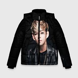 Детская зимняя куртка для мальчика с принтом Вишня, цвет: 3D-черный, артикул: 10076888006063 — фото 1