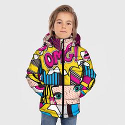Куртка зимняя для мальчика POP ART цвета 3D-черный — фото 2