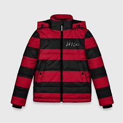Куртка зимняя для мальчика Автограф Курта Кобейна цвета 3D-черный — фото 1