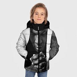 Куртка зимняя для мальчика Майк Тайсон цвета 3D-черный — фото 2