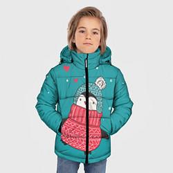 Куртка зимняя для мальчика Пингвинчик цвета 3D-черный — фото 2