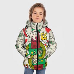 Детская зимняя куртка для мальчика с принтом Червовый король, цвет: 3D-черный, артикул: 10079042306063 — фото 2