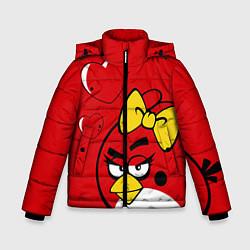 Куртка зимняя для мальчика Птичка цвета 3D-черный — фото 1
