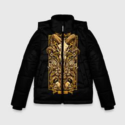 Куртка зимняя для мальчика Овен цвета 3D-черный — фото 1