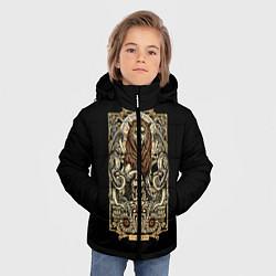 Куртка зимняя для мальчика Лев цвета 3D-черный — фото 2