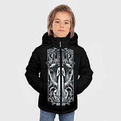 Куртка зимняя для мальчика Водолей цвета 3D-черный — фото 2