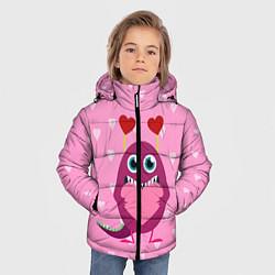 Куртка зимняя для мальчика Чудик с сердцем цвета 3D-черный — фото 2