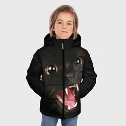 Куртка зимняя для мальчика Черный кот цвета 3D-черный — фото 2