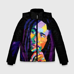 Куртка зимняя для мальчика Bob Marley: Art цвета 3D-черный — фото 1
