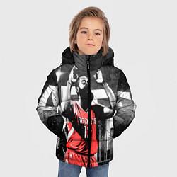 Куртка зимняя для мальчика Баскетболист NBA цвета 3D-черный — фото 2
