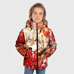 Куртка зимняя для мальчика Осенний волк цвета 3D-черный — фото 2
