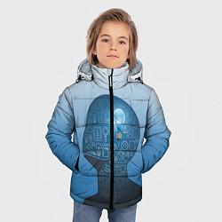 Куртка зимняя для мальчика Умный студент цвета 3D-черный — фото 2