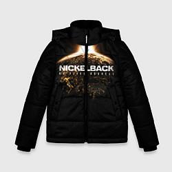 Куртка зимняя для мальчика Nickelback: No fixed address цвета 3D-черный — фото 1