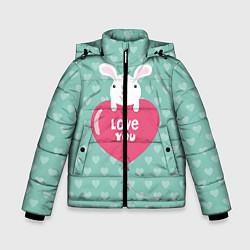 Куртка зимняя для мальчика Rabbit: Love you цвета 3D-черный — фото 1