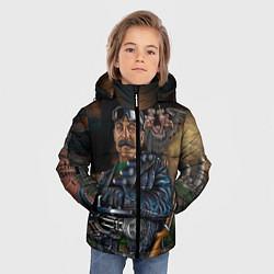 Детская зимняя куртка для мальчика с принтом Сталин военный, цвет: 3D-черный, артикул: 10082408306063 — фото 2