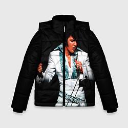 Куртка зимняя для мальчика Элвис поет цвета 3D-черный — фото 1