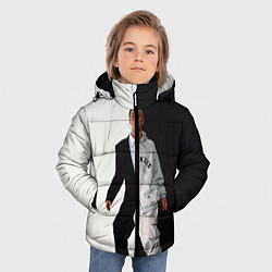 Куртка зимняя для мальчика Eminem: Black & White цвета 3D-черный — фото 2