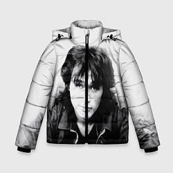 Куртка зимняя для мальчика Кино: Виктор Цой цвета 3D-черный — фото 1