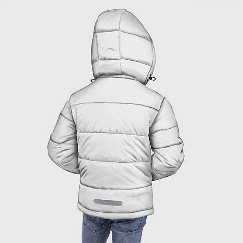 Зимняя куртка для мальчика Кино: Виктор Цой / 3D-Черный – фото 4