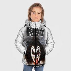 Куртка зимняя для мальчика KISS: Adult demon wig цвета 3D-черный — фото 2