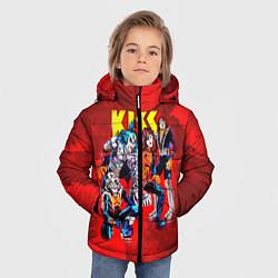 Куртка зимняя для мальчика KISS: Hot Blood цвета 3D-черный — фото 2