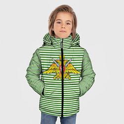 Куртка зимняя для мальчика Тельняшка ПВ РФ цвета 3D-черный — фото 2
