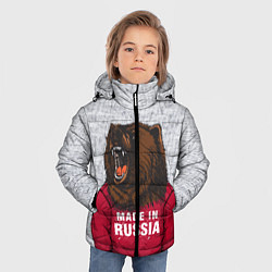 Куртка зимняя для мальчика Made in Russia цвета 3D-черный — фото 2