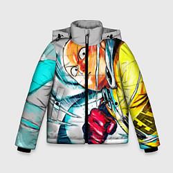 Куртка зимняя для мальчика One Punch Man Rage цвета 3D-черный — фото 1