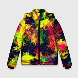 Куртка зимняя для мальчика Кислотный взрыв - фото 1