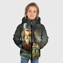 Куртка зимняя для мальчика Богатырь Руси цвета 3D-черный — фото 2