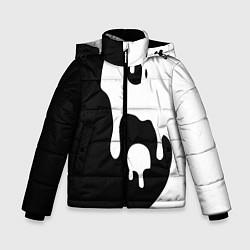 Куртка зимняя для мальчика Инь Янь цвета 3D-черный — фото 1