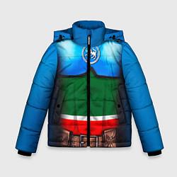 Куртка зимняя для мальчика Капитан Татарстан цвета 3D-черный — фото 1