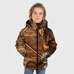 Куртка зимняя для мальчика Рыбацкий стол цвета 3D-черный — фото 2