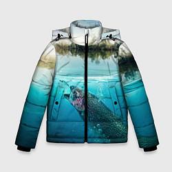 Куртка зимняя для мальчика Рыбалка на спиннинг цвета 3D-черный — фото 1