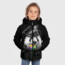 Куртка зимняя для мальчика Панда с карамелью цвета 3D-черный — фото 2