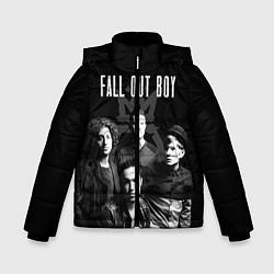 Куртка зимняя для мальчика Fall out boy band цвета 3D-черный — фото 1