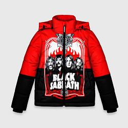 Куртка зимняя для мальчика Black Sabbath: Red Sun цвета 3D-черный — фото 1