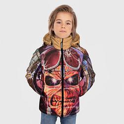 Детская зимняя куртка для мальчика с принтом Iron Maiden: Dead Rider, цвет: 3D-черный, артикул: 10089879806063 — фото 2