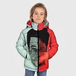 Куртка зимняя для мальчика Norton: White & Red цвета 3D-черный — фото 2