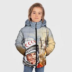 Куртка зимняя для мальчика Гагарин взлетает цвета 3D-черный — фото 2