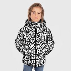 Куртка зимняя для мальчика Английский алфавит цвета 3D-черный — фото 2