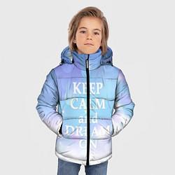 Детская зимняя куртка для мальчика с принтом Keep Calm & Dream, цвет: 3D-черный, артикул: 10092523406063 — фото 2