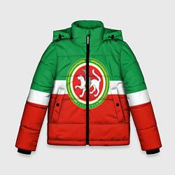 Детская зимняя куртка для мальчика с принтом Татарстан: флаг, цвет: 3D-черный, артикул: 10094275106063 — фото 1