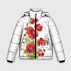 Куртка зимняя для мальчика Вышивка 22 цвета 3D-черный — фото 1