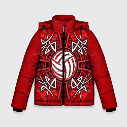 Куртка зимняя для мальчика Волейбол 34 цвета 3D-черный — фото 1