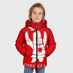 Куртка зимняя для мальчика Dark Souls цвета 3D-черный — фото 2
