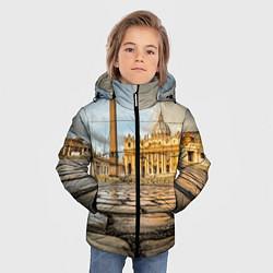 Куртка зимняя для мальчика Площадь святого Петра цвета 3D-черный — фото 2
