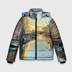 Куртка зимняя для мальчика Питер цвета 3D-черный — фото 1