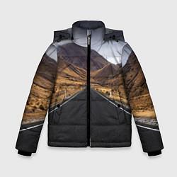 Куртка зимняя для мальчика Пейзаж горная трасса цвета 3D-черный — фото 1