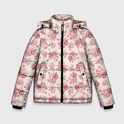 Куртка зимняя для мальчика Fashion sweet flower цвета 3D-черный — фото 1